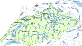 Einzugsgebiet der Aare