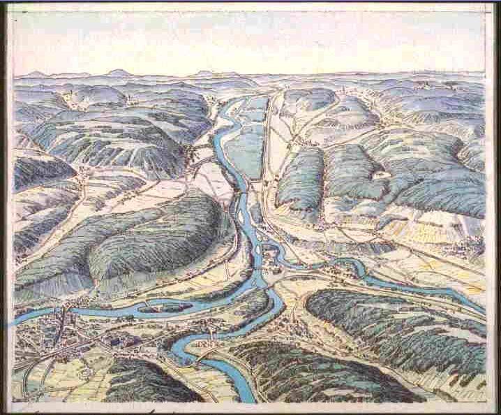 Alte Karte Wasserschloss