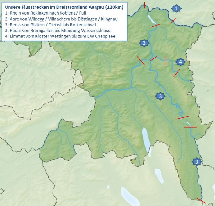 Vier Flüsse im Aargau